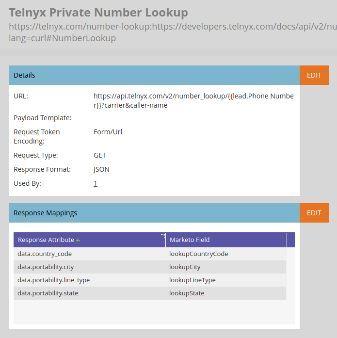 Telnyx Private Number Lookup Webhook
