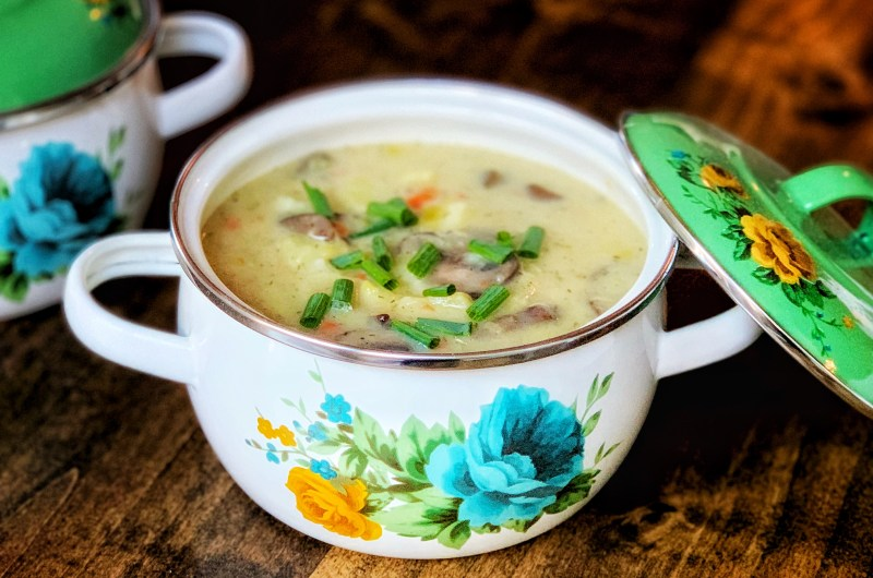 Potato and Mushroom Leek Soup