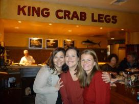 Me, Jen & Amy at Shaw's Oyster Bar - 2012