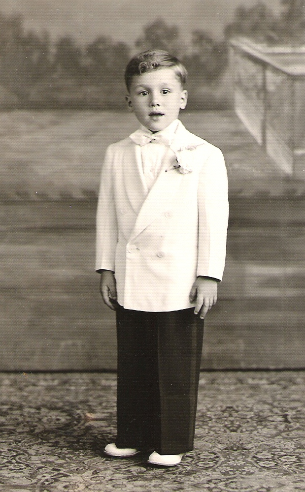 My dad, the adorable ring-bearer. Circa 1952.