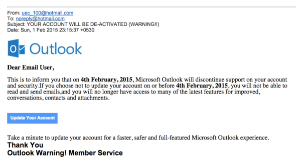 Outlook Phishing Email, phishing email, fake email outlook, scam email outlook, outlook fake email, fraud email from outlook, outlook phishing scam