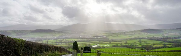 Gorgeous view of the Brecon Beacons, Wales