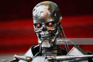 photo of terminator AI robot