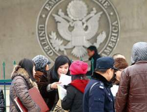 visa applicants applying for Ameican dream