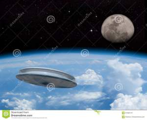 alien-space-scene-ufo-entering-earth-s-atmosphere-moon-visible-distance-invasion-welcome-our-new-overlords-