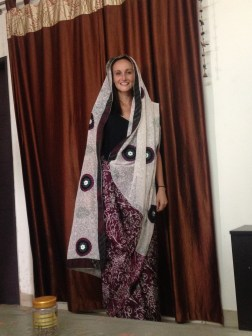 Lucy's attempt at a Sari
