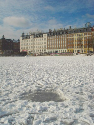 Frozen lake, Copenhagen