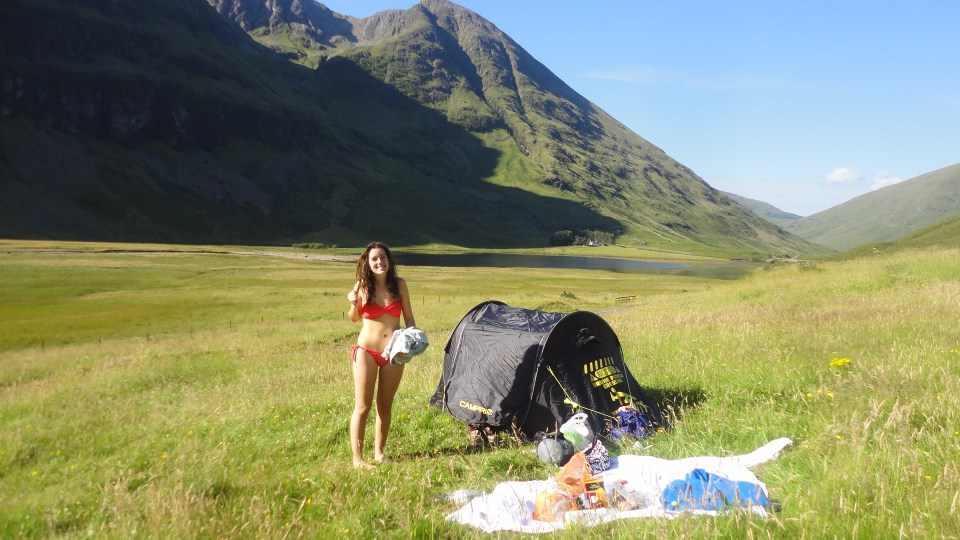 Me & our Tent - Glen Coe