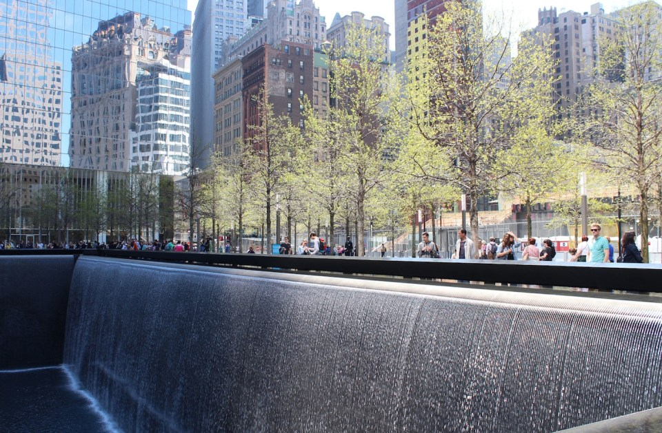 Ground Zero. 9/11 Memorial