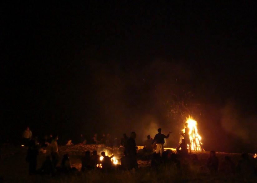 bonfire at the beach Galicia