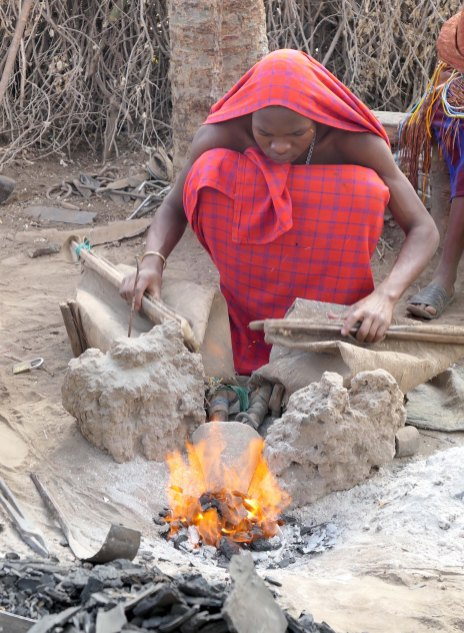The Datoga are skilled blacksmiths and make arrow tips and other objects.