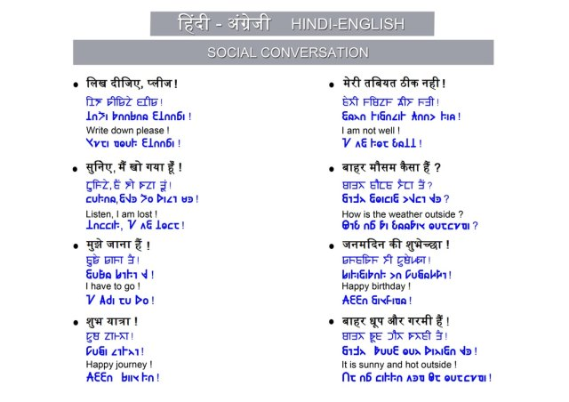 Hindi and English - A common script for the world!