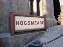 The Hogsmeade sign