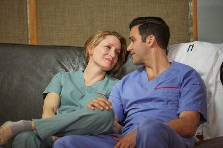 Michelle Nolden as Dawn Bell and Benjamin Ayers as Zach Miller