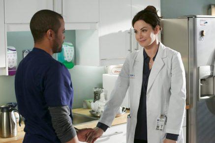Jarod Joseph as Manny Palmer and Erica Durance as Alex Reid