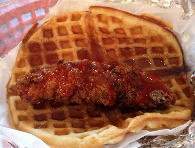 Presenting: The Chicken & Waffle Taco from Lucky J's