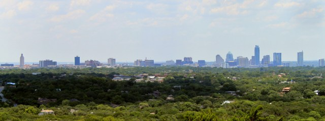 Austin, TX skyline view from Mount Bonnell