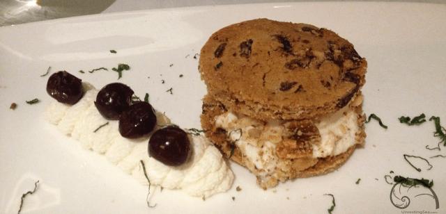 Third Course at Brizola - Chunky Monkey Ice Cream Sandwich