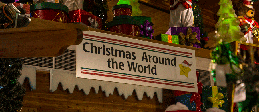 Bronners, the world's largest Christmas store. The Christmas Around World section.
