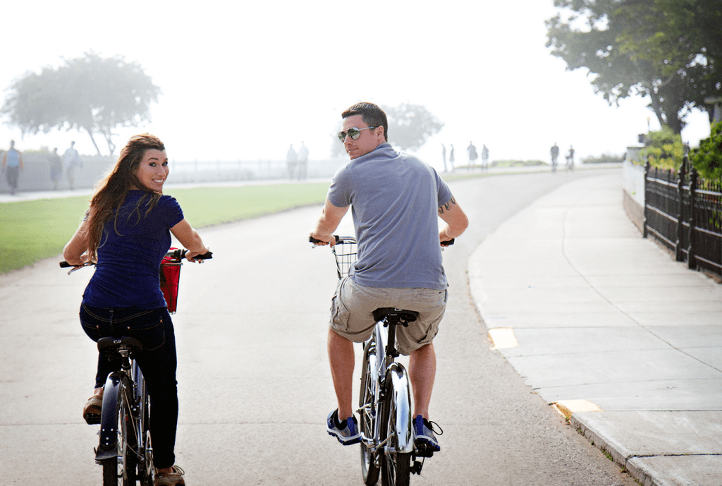 Amanda+Eric-biking_Mackinac