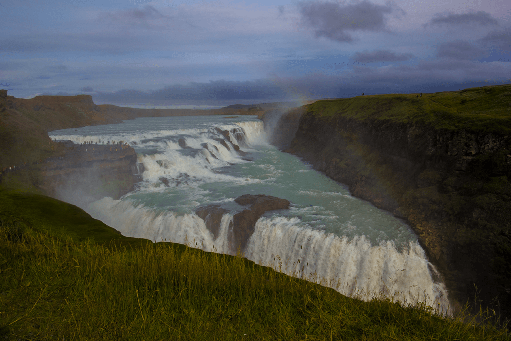 Iceland Itinerary stop: Gullfoss, waterfall on the Gold Circle tour in Iceland.