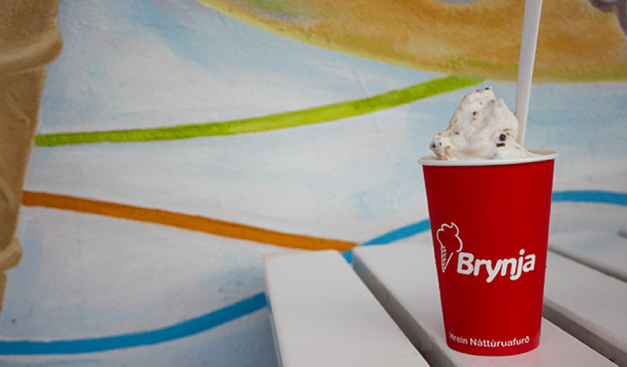 The best ice cream in Iceland: Brynja in Myvatn.