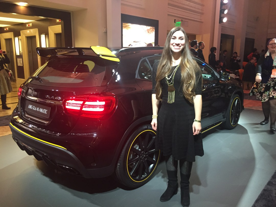 Posing at the Mercedes Benz reveal party at NAIAS