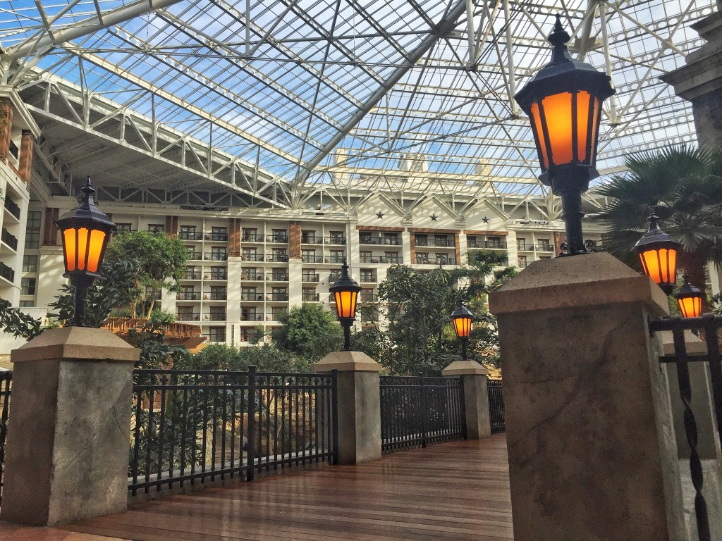 Staying at the Gaylord Texan Resort while on a work trip.