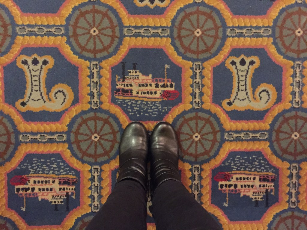 carpet at the Lafayette Hotel in Marietta, Ohio