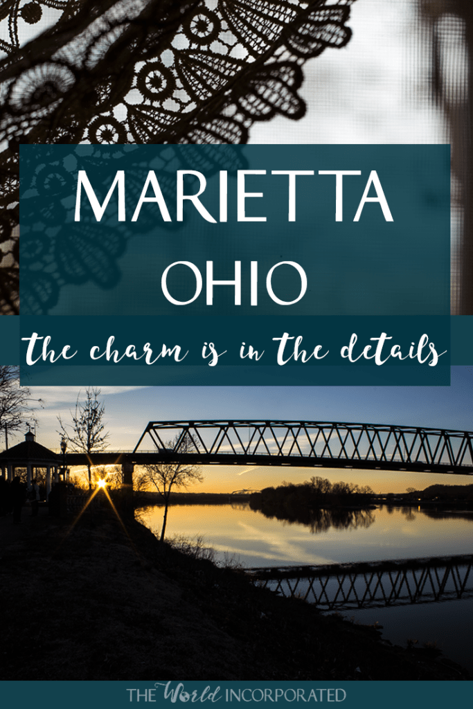pinnable image for Pinterest - Marietta Ohio Travel