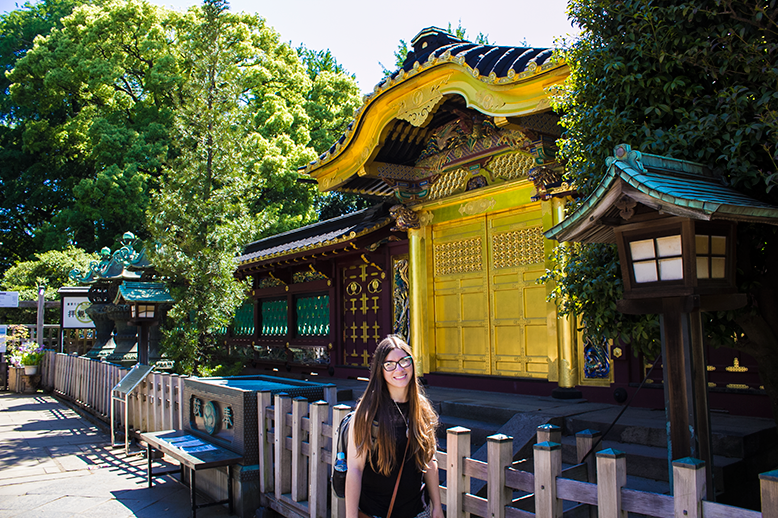 Visiting Toshogu Shrine in Ueno Park in Tokyo, Japan. A beautiful shrine with gold doors!