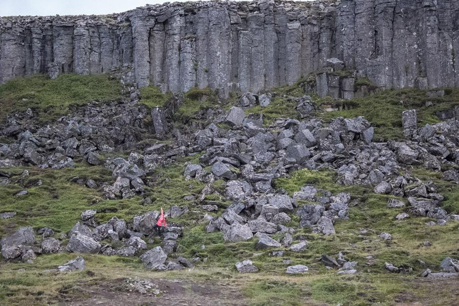 Gerduberg Cliffs on Snaefellsness Peninsula in Iceland.