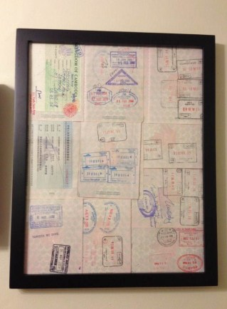framed passport