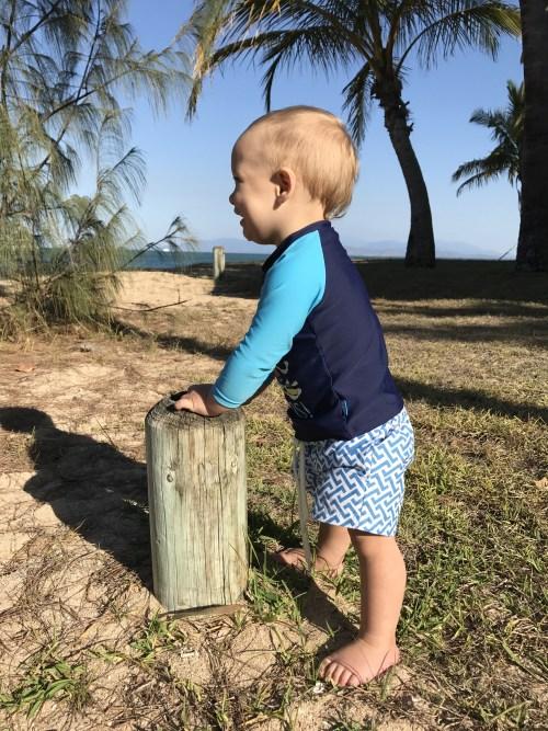 Baby Joaquin in Picnic Bay