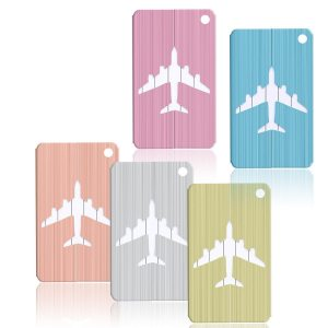 METALLIC COLOURED LUGGAGE TAGS
