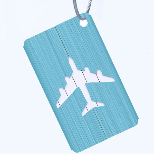 Blue - METALLIC COLOURED LUGGAGE TAGS