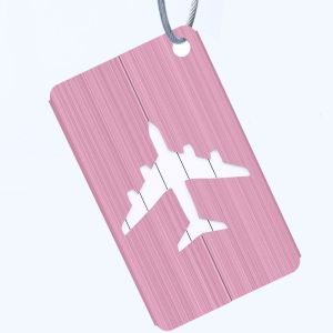 Pink - METALLIC COLOURED LUGGAGE TAGS