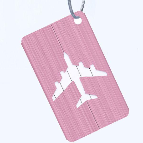 Pink - METALLIC COLOURED LUGGAGE TAGS
