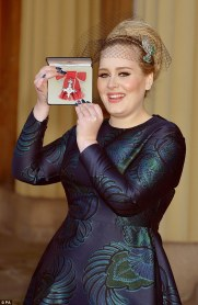 Adele with the MBE.