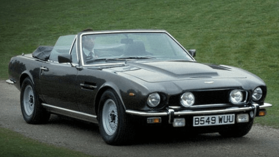 The V8 Vantage in THE LIVING DAYLIGHTS