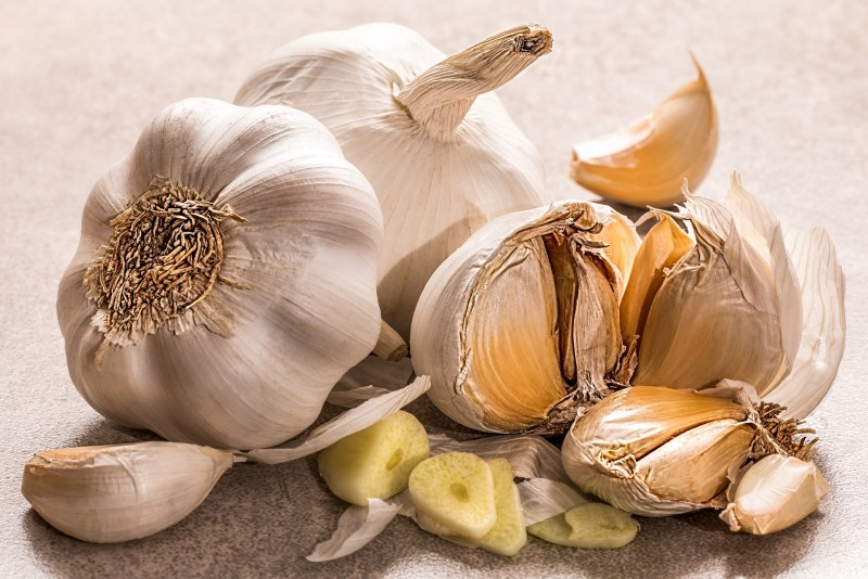 Eating a clove of Garlic before bed