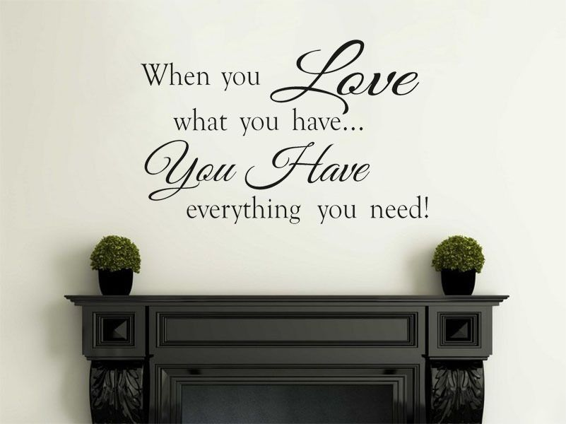 When You Love Family Wall Art Quote Vinyl Wall Art Decal Wall Sticker
