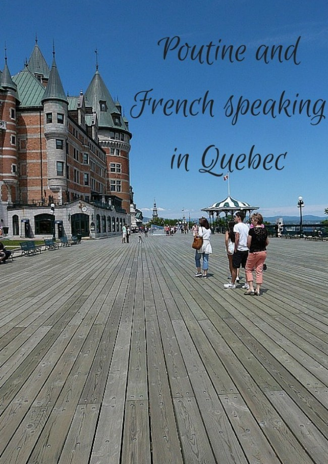 Poutine and French speaking in Quebec