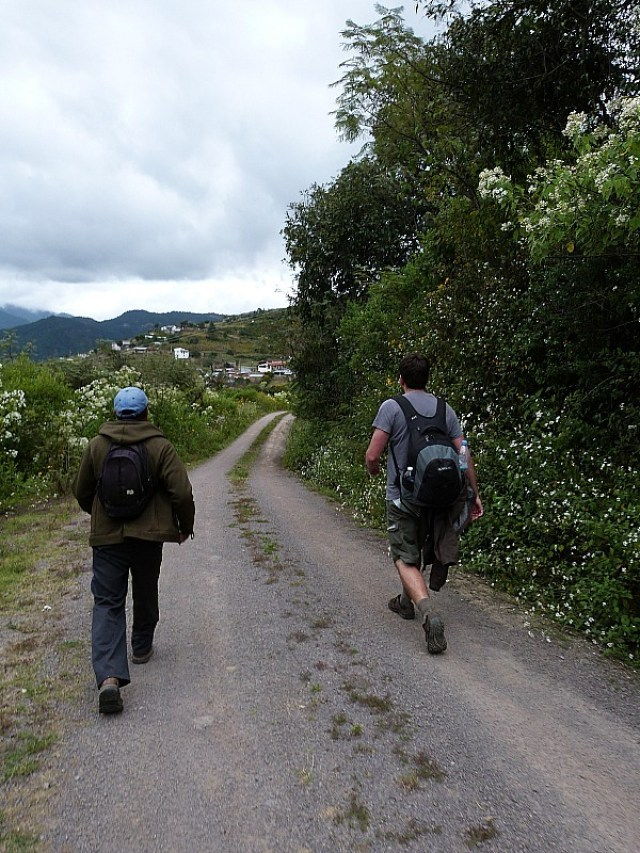 Hiking in the Sierra Norte Mountains in Oaxaca, Mexico between the Pueblos Mancomunados villages
