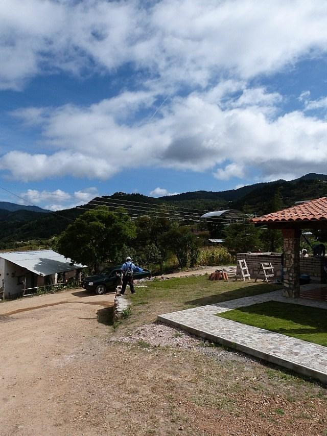 Hiking through Amatlan, one of the Pueblos Mancomunados villages in the Sierra Norte Mountains of Oaxaca, Mexico