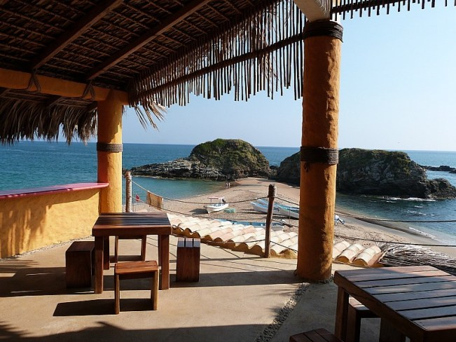View from our deck in San Agustinillo, Mexico