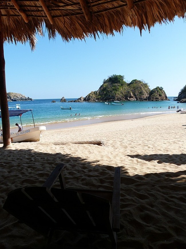 Puerto Angel beach on the Pacific Coast of Mexico