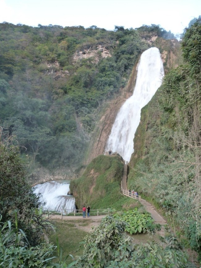 El Chiflon Waterfall in Chiapas State, Mexico