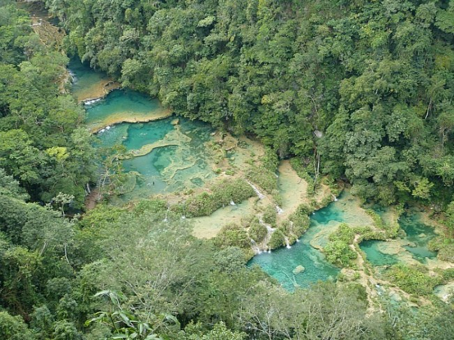 Semuc Champey, in Northern Guatemala