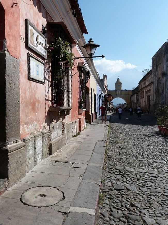 Cobbled streets in Antigua, Guatemala